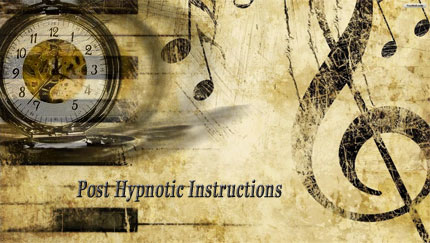 post hypnotic instructions classical conditioning